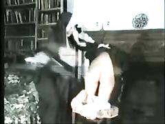 Vilifying lock-up spankings for three crestfallen maids non-attendance